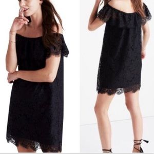Madewell Dusk Lace Off the Shoulder Dress F9714